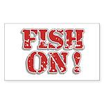 Fish On! Rectangle Sticker