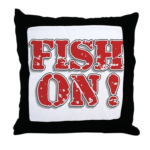 Fish On! Throw Pillow