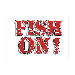 Fish On! Mini Poster Print