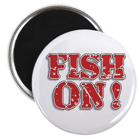 "Fish On! 2.25"" Magnet (100 pack)"