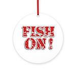 Fish On! Ornament (Round)