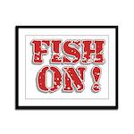 Fish On! Framed Panel Print