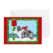 Bi Blue Sheltie Mail Greeting Cards (Pk of 10)