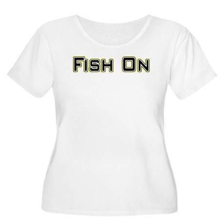 Fish On (2) Women's Plus Size Scoop Neck T-Shirt
