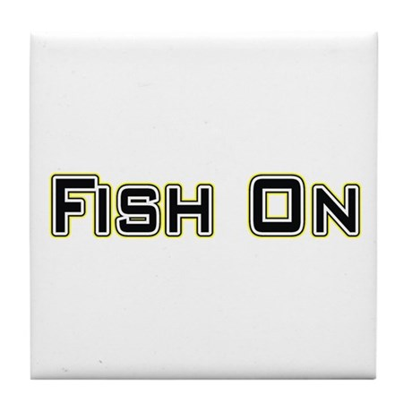 Fish On (2) Tile Coaster