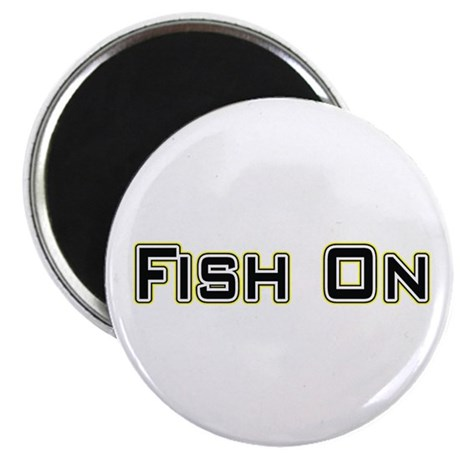 "Fish On (2) 2.25"" Magnet (100 pack)"