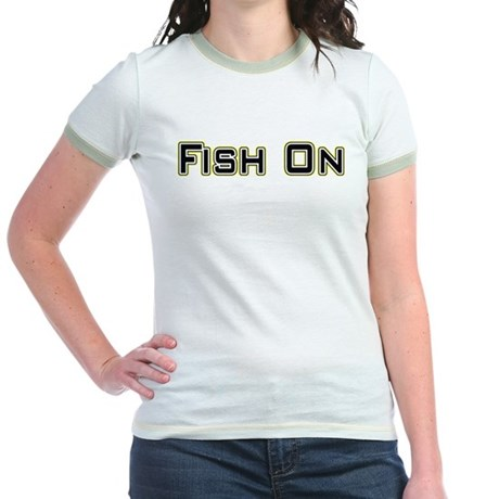 Fish On (2) Jr. Ringer T-Shirt