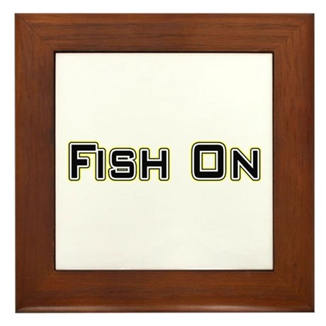 Fish On (2) Framed Tile