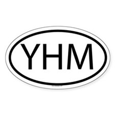 YHM Oval Decal