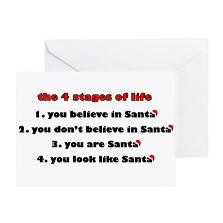 Santa Stages Greeting Card