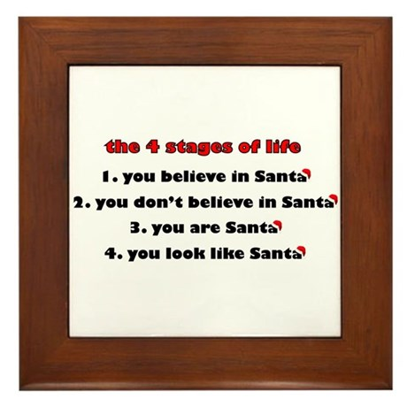 Santa Stages Framed Tile
