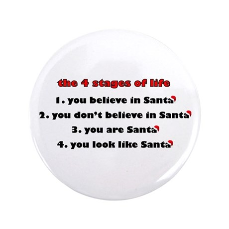 "Santa Stages 3.5"" Button (100 pack)"