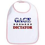 GAGE for dictator Bib
