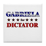 GABRIELA for dictator Tile Coaster