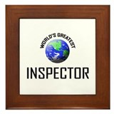 World's Greatest INSPECTOR Framed Tile