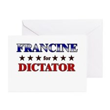 FRANCINE for dictator Greeting Cards (Pk of 20)