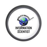 World's Greatest INFORMATION SCIENTIST Wall Clock