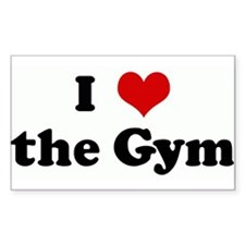I Love the Gym Rectangle Decal