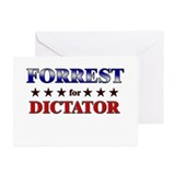 FORREST for dictator Greeting Cards (Pk of 20)