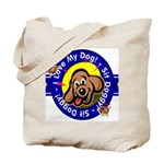 I Love My Dog Tote Bag