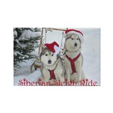 Jaco & Mingus Siberian Sleigh Rectangle Magnet