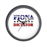 FIONA for dictator Wall Clock