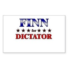FINN for dictator Rectangle Decal