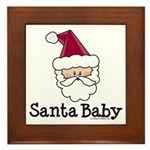 Santa Baby Christmas Framed Tile