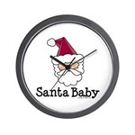Santa Baby Christmas Wall Clock
