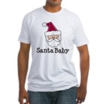 Santa Baby Christmas Fitted T-Shirt