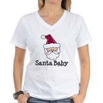 Santa Baby Christmas Women's V-Neck T-Shirt