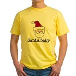 Santa Baby Christmas Yellow T-Shirt