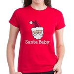 Santa Baby Christmas Women's Dark T-Shirt