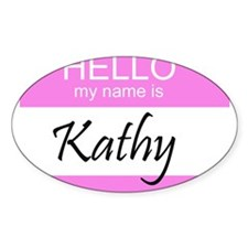 Kathy Oval Decal