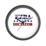 EZRA for dictator Wall Clock