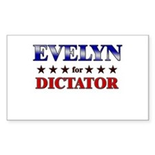 EVELYN for dictator Rectangle Decal
