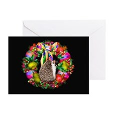 """""""Merry Berry Hedgie"""" Greeting Cards (Pk of 10)"""