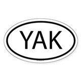 YAK Oval Decal