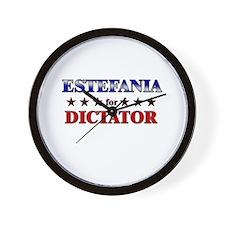 ESTEFANIA for dictator Wall Clock