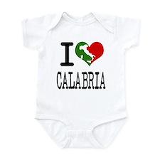 I Love Calabria Italian Onesie