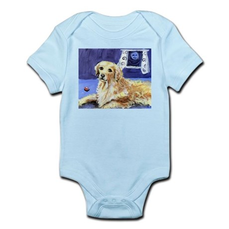 GOLDEN RETRIEVER senses moon Infant Creeper