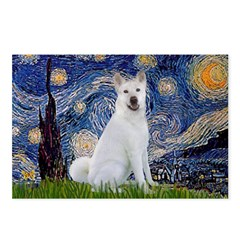 Starry Night - Akita 2 Postcards (Package of 8)