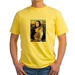 Mona / Akita (br&w) Yellow T-Shirt