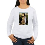 Mona / Akita (br&w) Women's Long Sleeve T-Shirt