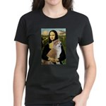 Mona / Akita (br&w) Women's Dark T-Shirt