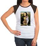 Mona / Akita (br&w) Women's Cap Sleeve T-Shirt