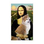 Mona / Akita (br&w) Rectangle Sticker