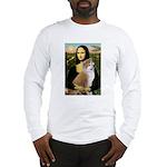 Mona / Akita (br&w) Long Sleeve T-Shirt