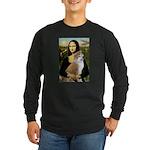 Mona / Akita (br&w) Long Sleeve Dark T-Shirt