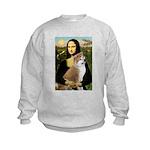 Mona / Akita (br&w) Kids Sweatshirt